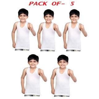 Kids Multicolour Cotton Sleveless Vest Pack Of 5