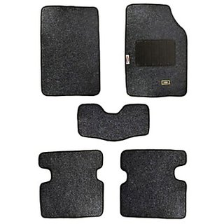 Takecare Car Foot Mat Stallion (Set Of 5) For Renault Duster (Black)