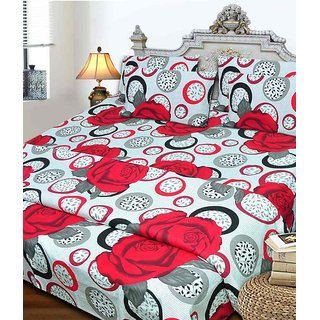 RiDhaan Double Bedsheet with 2 Pillow Covers