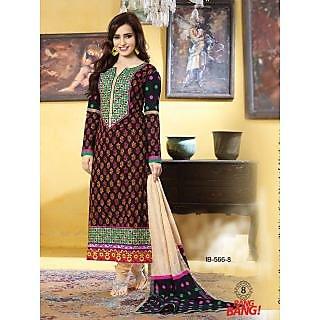 Cotton Print Regular Stylist Fancy Black Color Salwar suit -566
