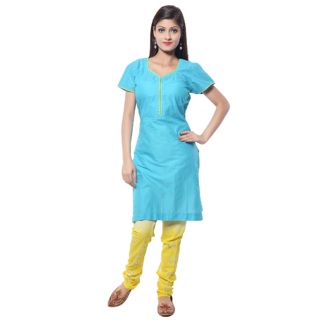 Nitara Readymade Tunic -Aqua Blue