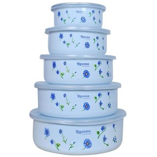 Ideals Storage Containers With Lid Set Of 5 Pieces