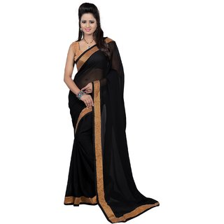 Magnum Opus Store Black Color New Party Wear Georgette Saree VR-RKN-01