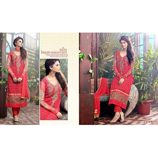 Georgette designer embroidered semi-stitched suits