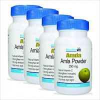 HealthVit AMDA Amla Powder 250 Mg 60 Capsules  (Pack Of