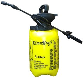 Kisan Kraft Hand Pressure Sprayer 3 Liter Compressed Air-Minerva Naturals