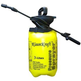 Kisan Kraft Hand Pressure Sprayer 3 Liter Compressed Air-Minerva Naturals