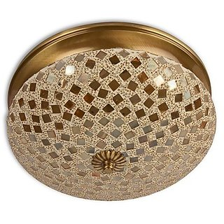 Fos Lighting Golden Mosaic Brass Ceiling Light