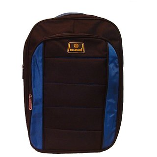 Brown Blue Simple and Trendy School Bag for Kids