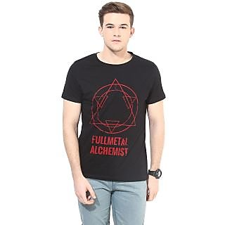 White Kalia Mens Fullmetal  Black Printed T shirt