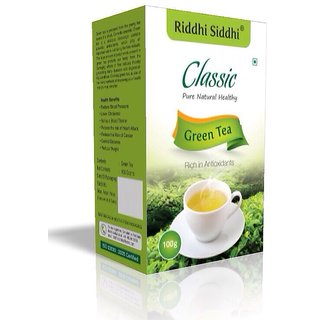 RIDDHI SIDDHI CLASSIC GREEN TEA 100G(Combos of 4 pack each OF 100g)
