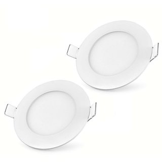 Bene LED 3w Round Panel, Color Of LED White (Pack of 2 Pc.)