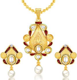 Sukkhi Trendy Gold Plated Kundan Pendant Set