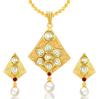 Sukkhi Exotic Gold Plated Kundan Pendant Set