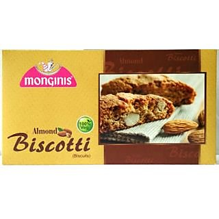 MONGINIS ALMOND BISCOTTI,150GM,PURE VEG
