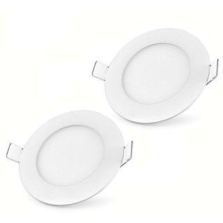 Bene LED 6w Round Panel, Color Of LED Warm White (Pack of 2 Pcs.)