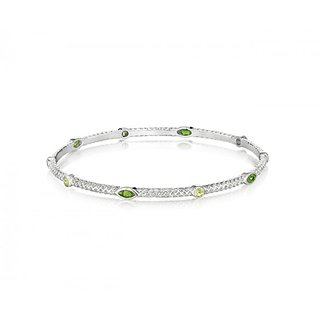 The Boutique Life Burlap Stacking Bangle With Chrome Diaopsite And Peridot