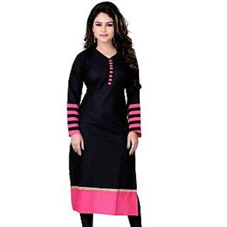 Kesar Sarees Cotton Designer Black kurties