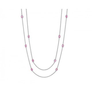 The Boutique Life Sparkler Necklace Big Stone With Pink Topaz