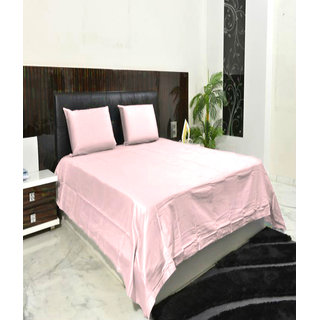 BOMBAY DYEING DOUBLE BEDSHEET PEACH COLOUR 1+2