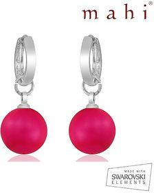 Mahi Neon Pink Earrings - L