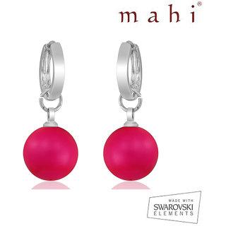 Mahi Neon Pink Earrings L