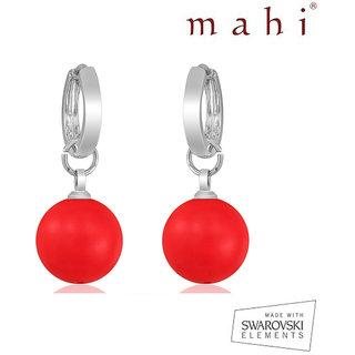 Mahi Neon Red Earrings - L