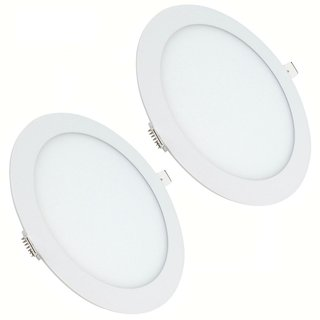 Bene LED 12w Round Panel, Color Of LED Warm White (Pack of 2 Pc.)
