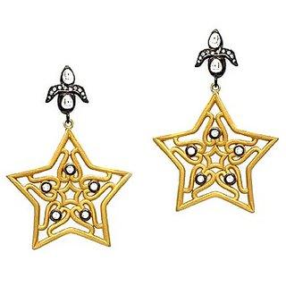 OyeSassy Star Shaped Beautiful Sterling Silver Dangle Earrings.