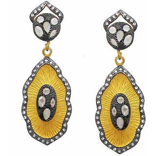 OyeSassy Patterned 925 Sterling Silver Dangle Earrings (Design 1)