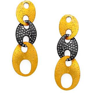 OyeSassy Patterned 925 Sterling Silver Dangle Earrings (Design 2)
