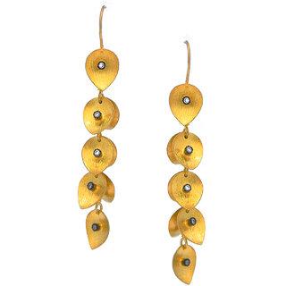 OyeSassy Leaf Styled Sterling Silver Dangle Earrings