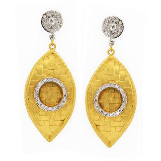 OyeSassy Stunning 925 Sterling Silver Dangle Earrings (Design 1)