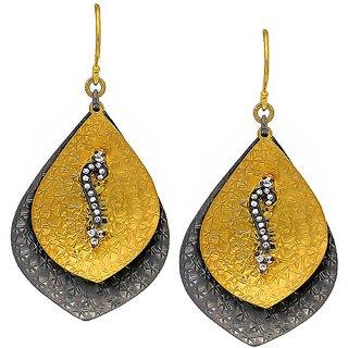 OyeSassy Gold ColoRed 925 Sterling Silver Dangle Earrings