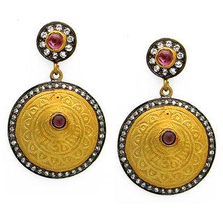 OyeSassy Indian Traditional Bronze Dangle Earrings