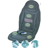 BACK Body Massager Seat Cushion With Heat, Black New GENIUNE PRODUCT