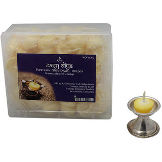 Pure Cow Ghee Diya for Worship