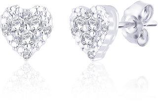 Peora Silver Cute Heart Studs PE3030