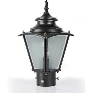 Fos Lighting Classic Black Small Outdoor Gate Light