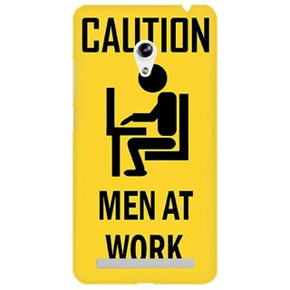 The Fappy Store Caution---Men-At-Work Plastic Back Cover Asus Zenphone 5