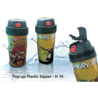 Pop Up Plastic Sipper