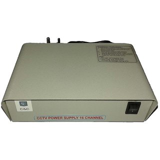 16 Channel CCTV Camera SMPS Power Supply (12 V, 20 Amp ) with 4 years  warranty