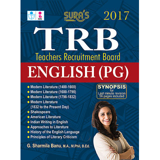 TRB Teachers Recruitment Board English Post Greduate Exam Book