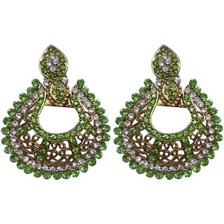 Dvine Jewels parrot green earring for party for women (1769)