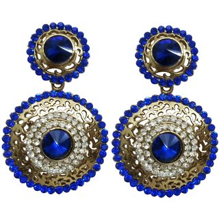 Dvine Jewels exclusive blue stone fancy earring for women (1842)