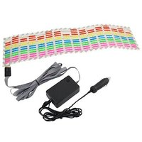 Car Music Rythm Sound Activated Stickers Equalizer Glow LED Light 45 X 11 Cm