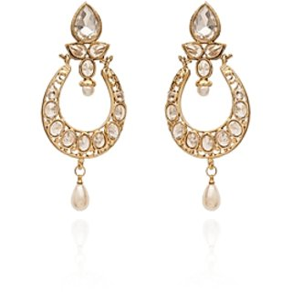 Vanila Jewels Gold Plated REVERSE UNCUT STONES EARRING