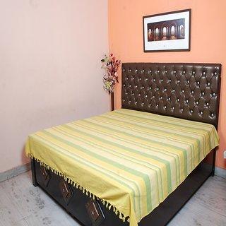 Flier Multicolour Cotton Stripes Double Bedsheet