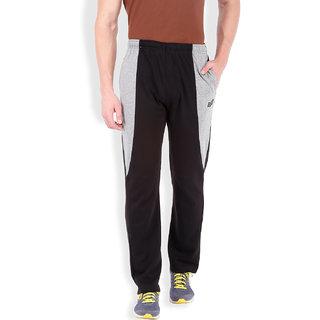 2Go 100 Performance Premium cotton Black/Greymel Track Pants