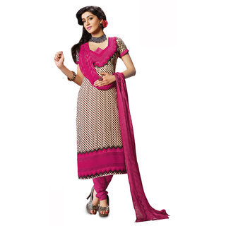 Parisha Multicolor Georgette Printed Salwar Suit Dress Material